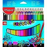 Maped 832048ZV, Lápis de Cor, Triangular Color Peps 48 Cores Estojo, Multicor