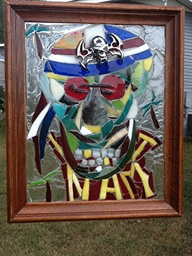 Stained Glass Vietnam Veteran Skull Window Art Sun Catcher Military Soldier American - Sumglasses