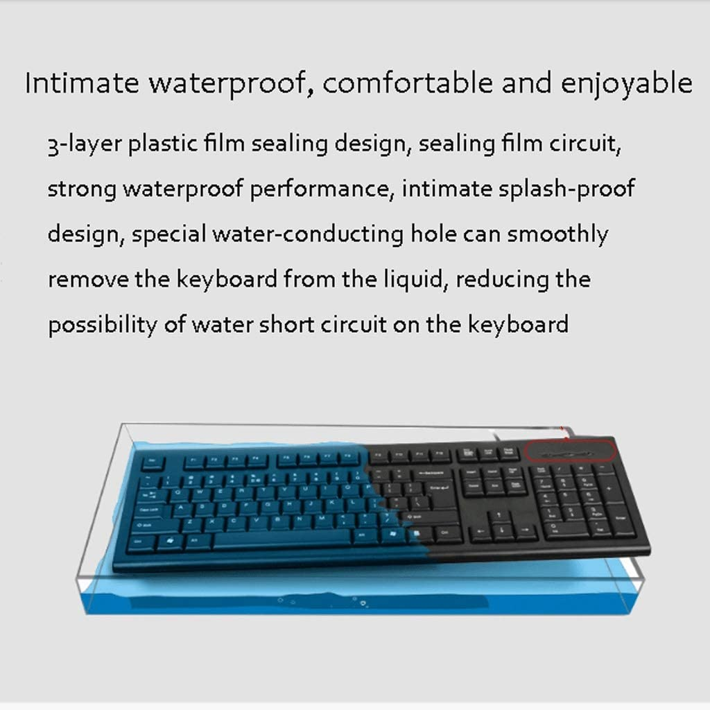 Usb Wired Keyboard And Mouse Set Computer Notebook Office Home Laser Laser Engraving Keycap Durable Wear Feel Comfortable