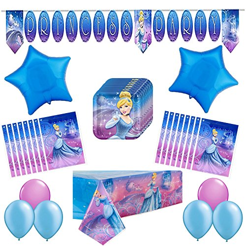 Disney Cinderella Sparkle Treat Bags (Cinderella Sparkle Deluxe Party Supplies Pack34pc)