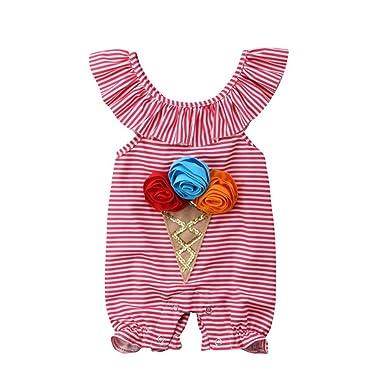 Wang-RX Niño recién Nacido Infant Baby Girl 3D Flower Romper ...