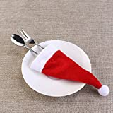 NICEXMAS Christmas Silverware Holders Christmas Cutlery Holders Cute Decoration for Christmas Dinner Table 10 pcs