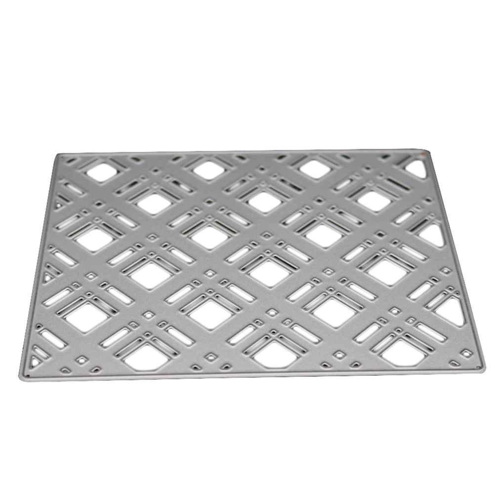 Royalr Arrière-Plan Cadre Checkered Pochoirs Bricolage Scrapbooking Carbone de Coupe en Acier Dies gaufrer du Papier Moisissures