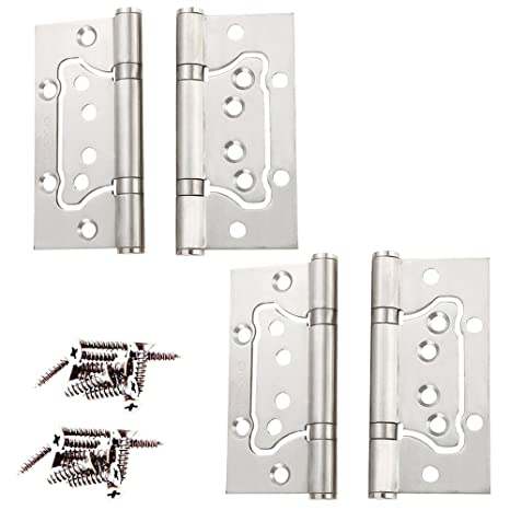 Amazon.com: non-mortise bisagras, 4 pcs Pertty 304 exterior ...