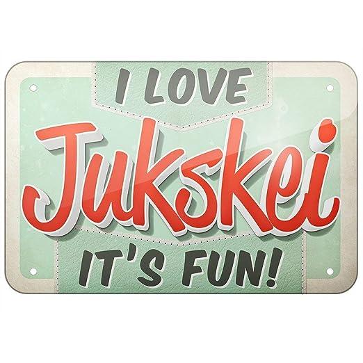 Bilingo Cartel de Metal con Texto en inglés I Love Jukskei ...