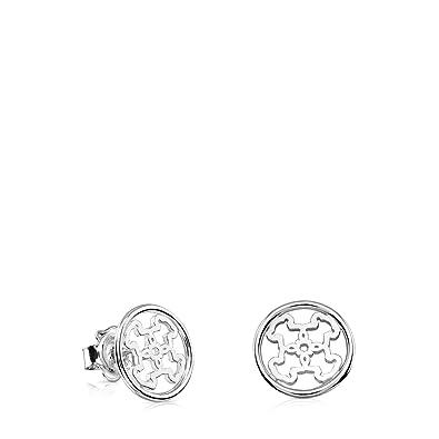 d43d9b0c7c8d Tous Pendientes de botón Mujer plata - 618203500  Amazon.es  Joyería