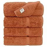 Luxury Premium Long-Stable Hotel & Spa Turkish Cotton 4-Piece Eco-Friendly Bath Towel Set (Coral)