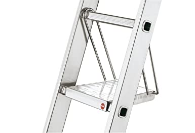 Hailo 9950-001 - Plataforma de trabajo antideslizante de aluminio para escalera: Amazon.es: Industria, empresas y ciencia