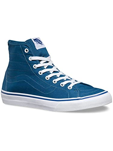 890e85ceb9 Image Unavailable. Image not available for. Color  VANS SK8 Hi Decon US  Mens Size 10 Navy Blue True White Skateboarding Shoes