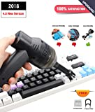 CRSURE USB Keyboard Vacuum,Mini Vacuum Cleaner with Two Replaced Nozzle for Cleaning Keyboard Dust,Bread Crumbs,Paper Scrap,Eraser Crumbs,Cigarette Ash,Makeup Bag,Car Device,Pet House
