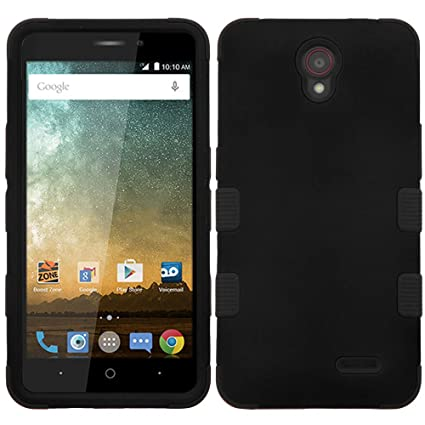 ZTE Sonata 3 Z832 (Cricket) Case - [Black] Heavy Duty Rugged [TUFF