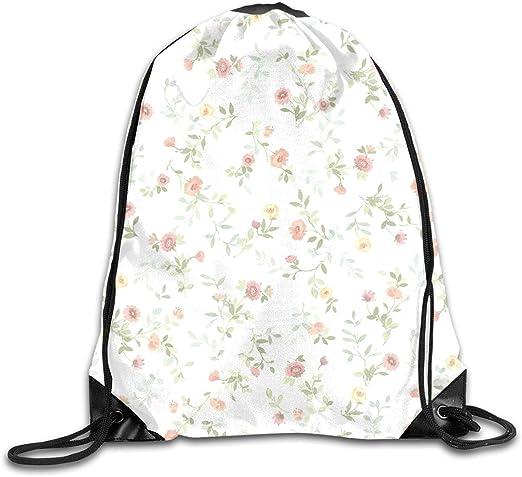 Drawstring Backpack Florals Shoulder Bags