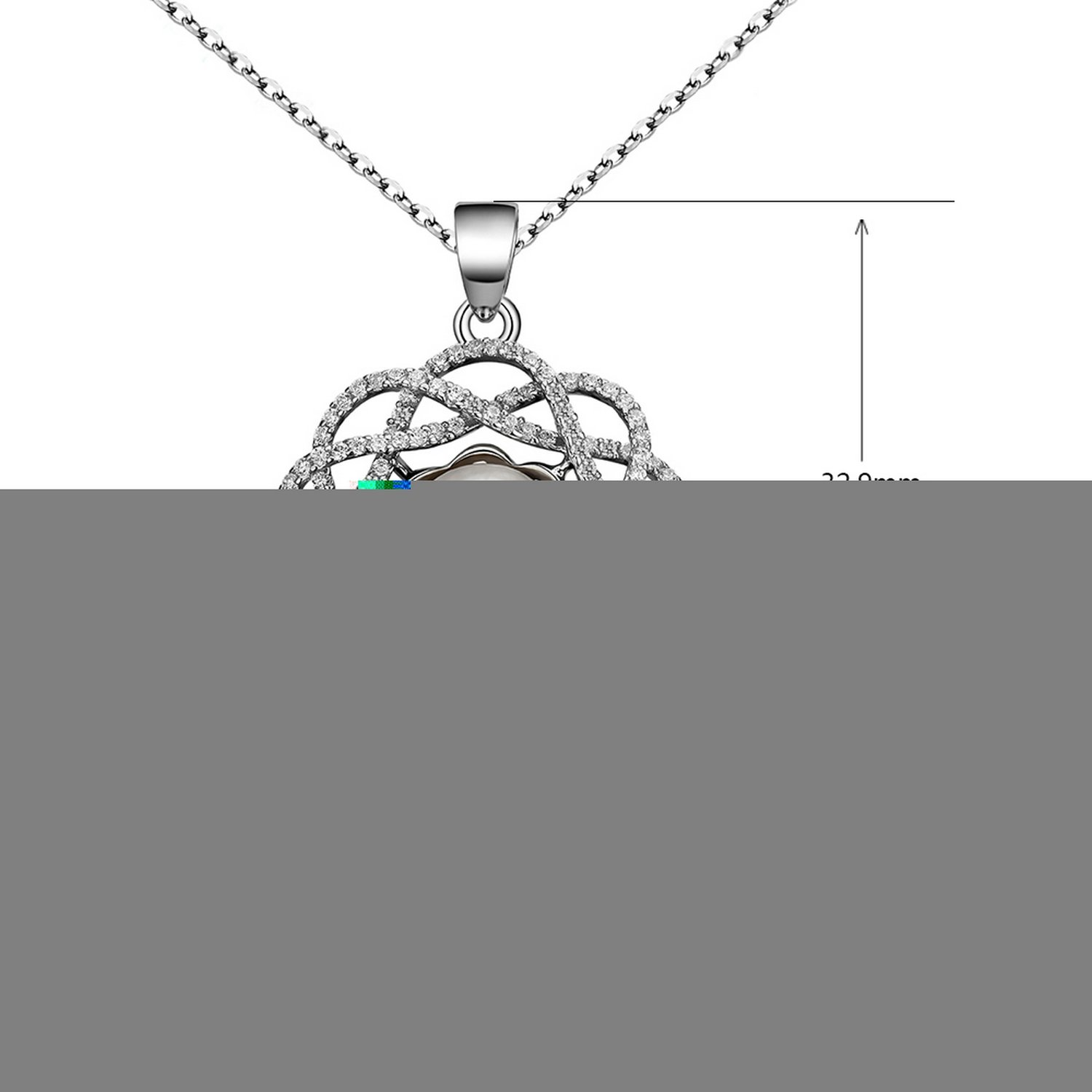 MMC Pearl Flower Hollow Jewelry Silver Pendants Necklaces