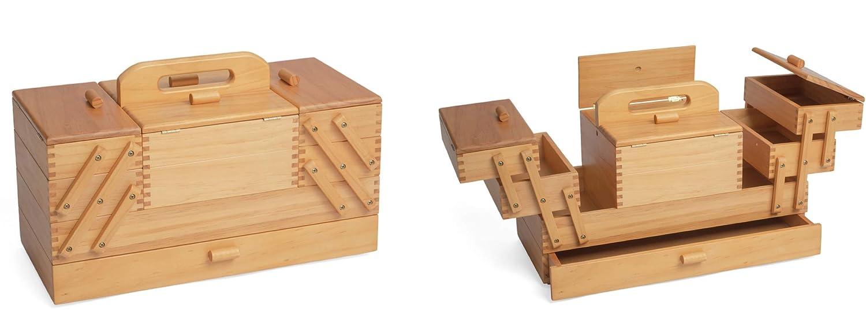 Hobbygiftソーイングボックス:4層、23.5 x 45 x 32 cm   B0063G486C
