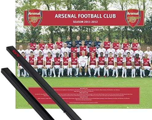 B01KG94PLY 1art1 Football Mini Poster (20x16 inches) Arsenal FC, Team Photo 11/12 and 1 Set of Black Poster Hangers 61Zvz58CLlL