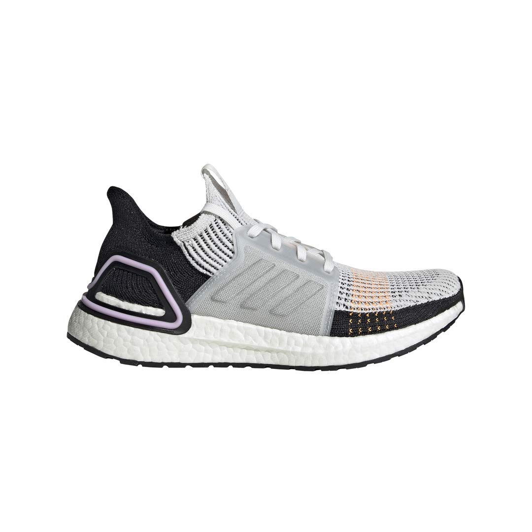 adidas Women's Ultraboost 19 Running Shoe, Crystal White/Black, 8.5 M US by adidas