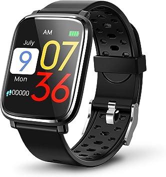 Montre Connect/ée Femmes Homme Smartwatch pour Appel Message Montre Intelligente Etanche Trackers dActivit/é Podometre Calories Sommeil Chronometre iPhone Huawei Samsung Cadeau pour Homme Femme