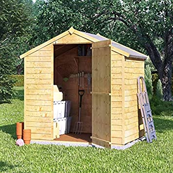BillyOh 4x6 Value Overlap Wooden Storage Shed Windowless Single Door Apex  Roof U0026 Felt Garden Sheds