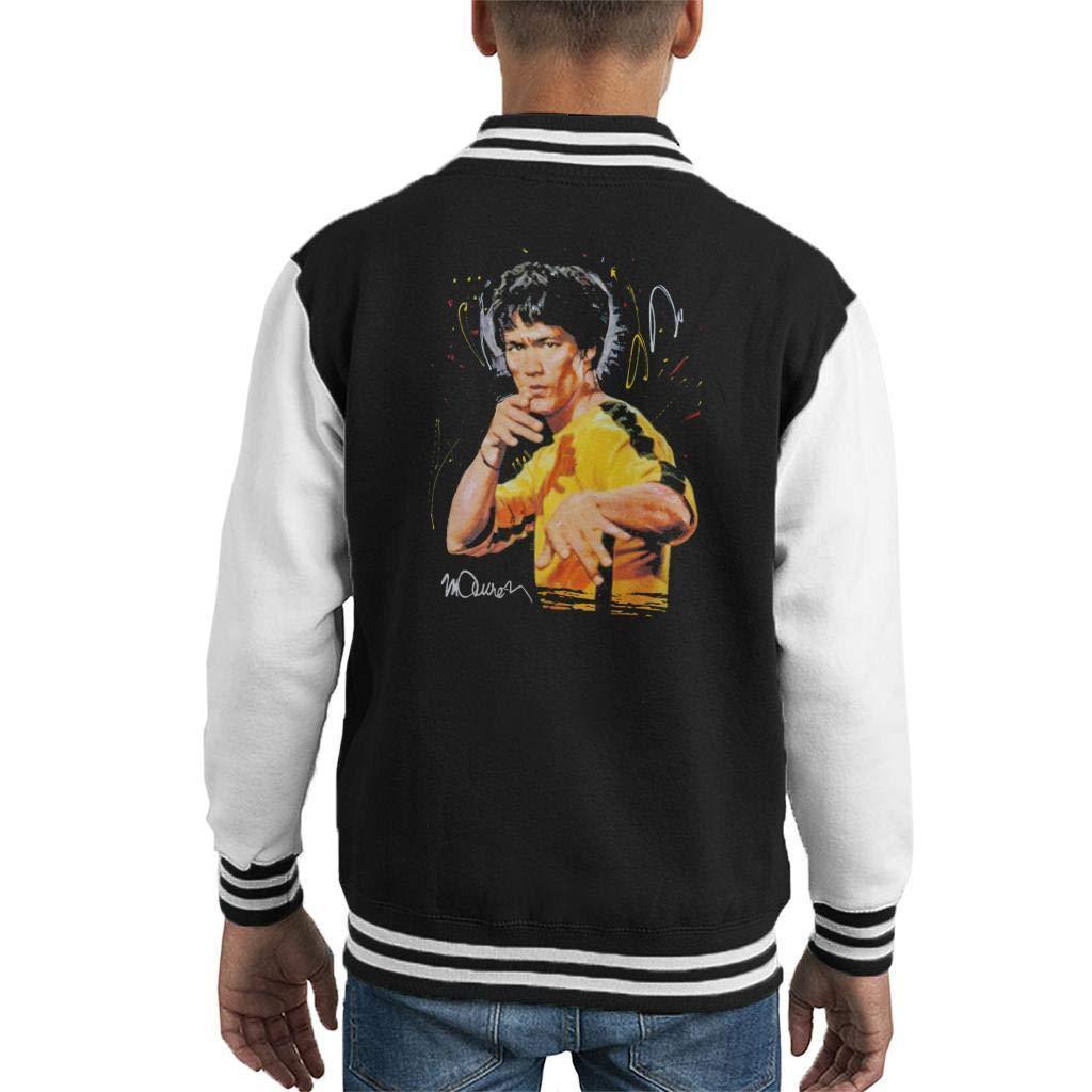 VINTRO Bruce Lee Jeu De Varsity Jacket Portrait Original Death Kid par Sidney Maurer