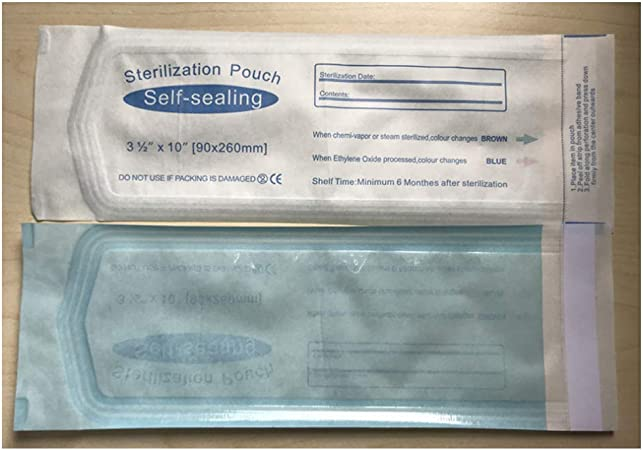 Lalone 200 Piezas de Bolsas de esterilizaci/ón Bolsas de esterilizaci/ón Autoadhesivas Medical Dental Self-Seal Bag Self Seal Autoclave para Bolsas de esterilizaci/ón
