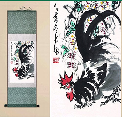 Joy Shangku Silk Scroll Painting Hanger Decorate H39 Quot W15