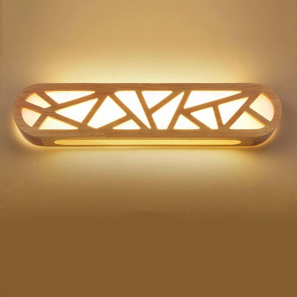 Kommode Spiegel Front Ligh, LED Badezimmer Kreative Spiegel Scheinwerfer Schlafzimmer Nachttischlampe Korridor Massivholz Wandleuchte (Größe   16W 65CM)