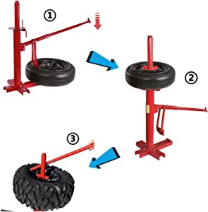 HongK- Manual Portable Hand Tire Changer Bead Breaker Tool Mounting Home Shop Auto NEW [P/N: US-ET-TOOL004-RED2]