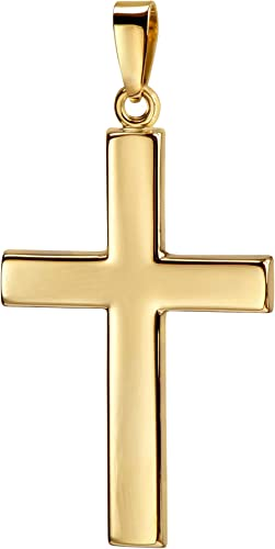 Kreuz-Anhänger Hochglanz poliertes Gold-Kreuz 750 Gold 18 Karat Kettenanhänger