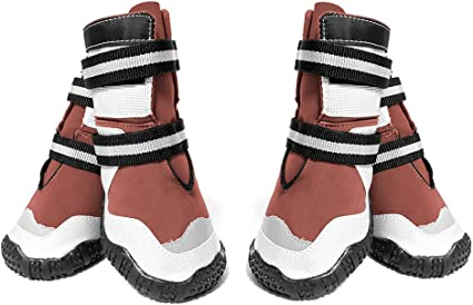 4pcs Anti-Slip Dog Boots Socks Waterproof Foot Protective Winter Dog Shoes S-XL