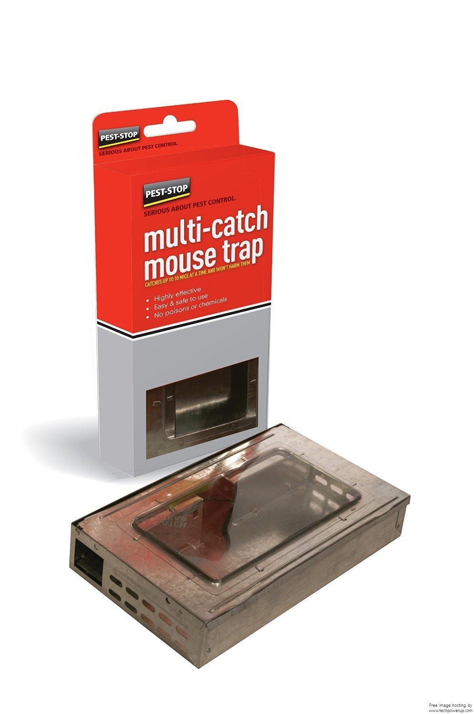 Pest-Stop Multicatch Metal Mouse Trap Pest Stop Systems Ltd PSPMMT Humane traps Misc