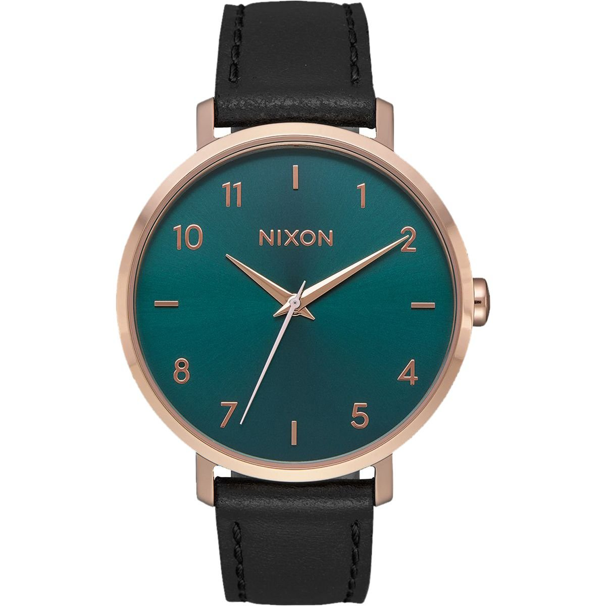 Nixon Women's 'Arrow' Quartz Stainless Steel and Leather Casual Watch, Color:Gold-Toned (Model: A10912805) by NIXON