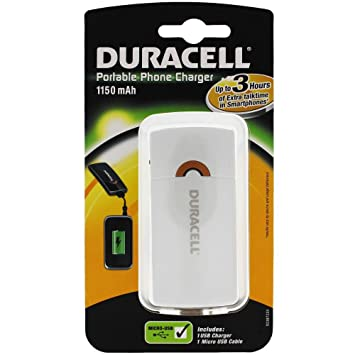 Duracell cargador portátil USB blanco para Samsung Pocket ...
