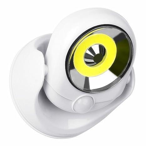 LED Luz Nocturna Inalámbrica con Sensor de Movimiento,Gira 360 Grados Y Pivota, Brilla