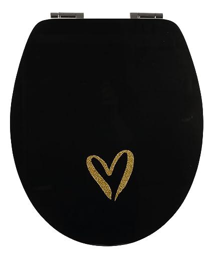 Terrific Sitzplatz 40378 8 Toilet Seat High Gloss Black Love Spiritservingveterans Wood Chair Design Ideas Spiritservingveteransorg
