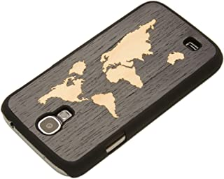 product image for CARVED Matte Black Inlaid Ebony Wood Case for Samsung Galaxy S4 - World Map (S4-BC1-EWMAP)