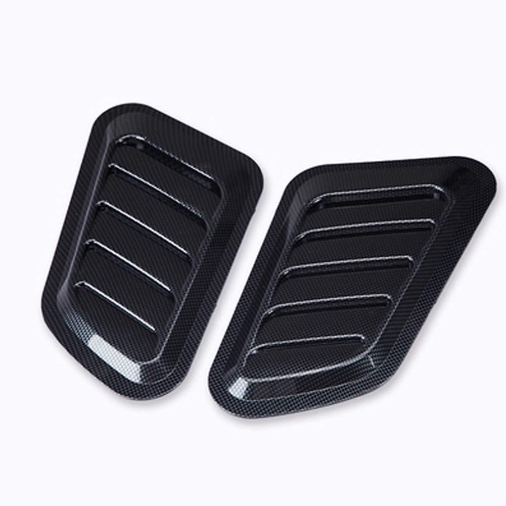 GSDCNV Cubierta 2 Piezas Turbo Scoop Car Motor ventilaci/ón Cubre cap/ó de admisi/ón port/átil Bonnet Auto Decorativo Multiuso ABS Material Negro
