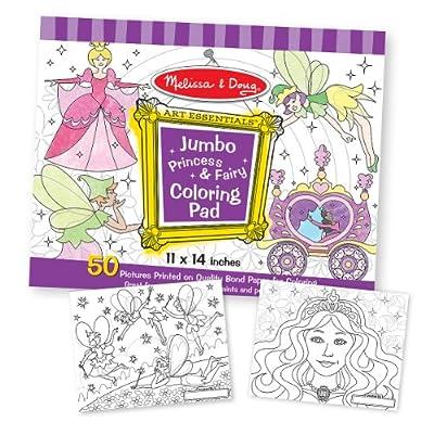 Melissa & Doug Princess & Fairy Jumbo Coloring Pad | Educational Computers