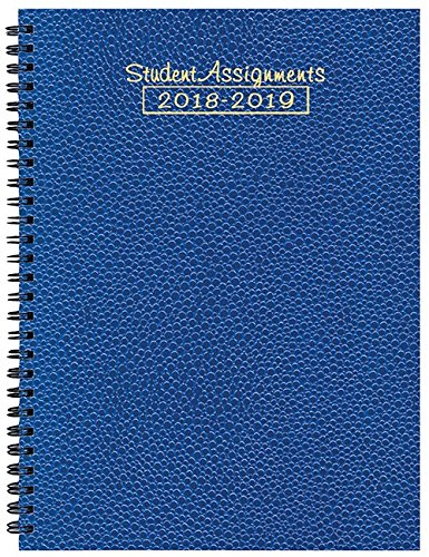 Student Assignment Planner Cobblestone Cover Academic Calendar 7 x 10 School Year (Sapphire)