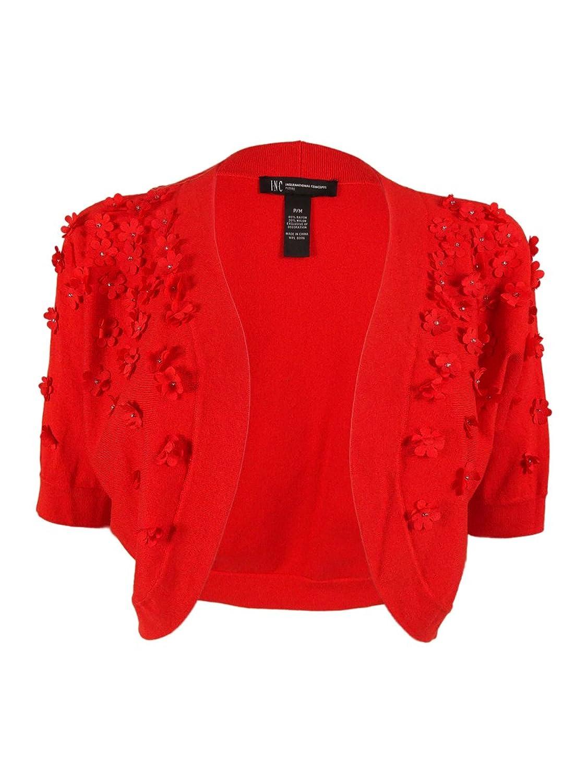 INC International Concepts Women's Applique Bolero Sweater