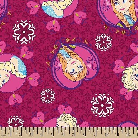 UPC 887816159708, Frozen Framed Sisters Toss Minky Fabric