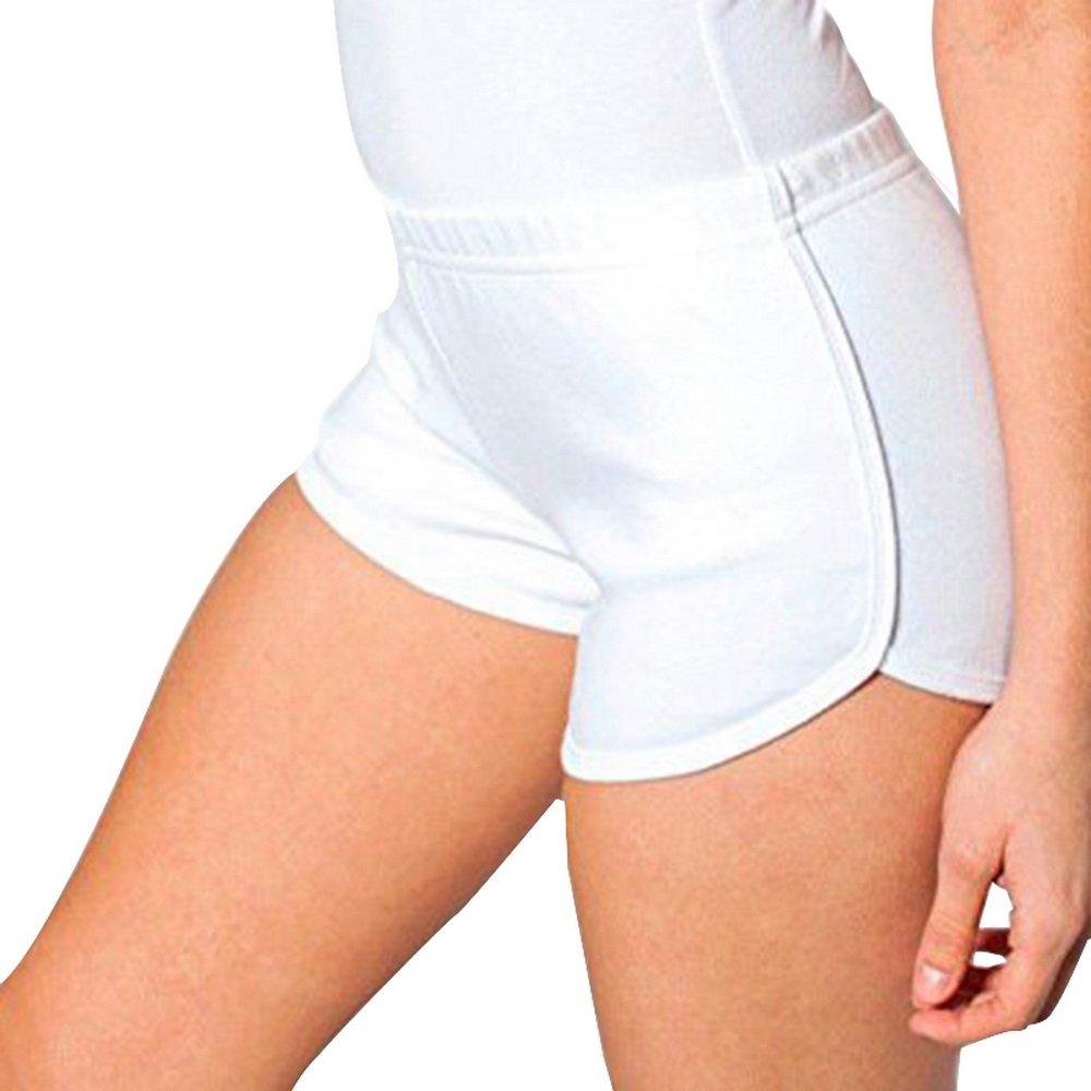 Dihope Damen Sport Short Yoga Kurze Hose Stretch Retro Schorts Hot Pants