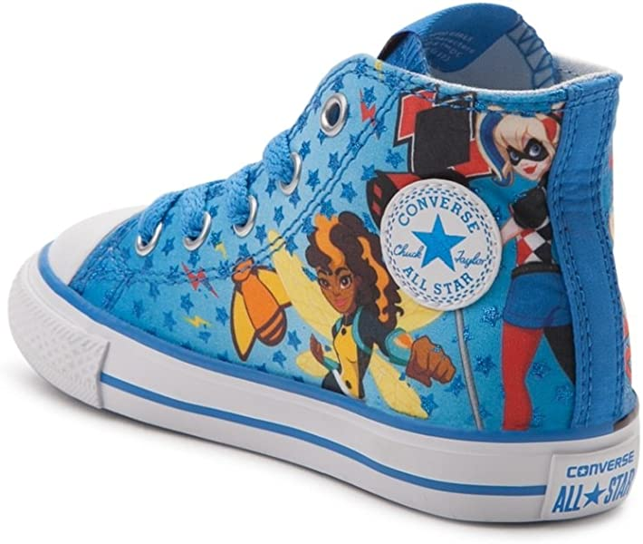 c52da94eab8601 Youth Chuck Taylor All Star Hi Superhero Girls Sneaker Italy Blue White Red  359167F