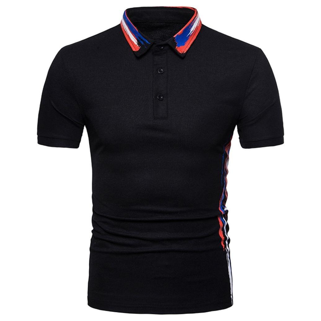 db51b7a083e7 Top8: SPE969 Big Prpmotion! Short Sleeve Slim Fit Mens Buttons Design Print  Casual T Shirt