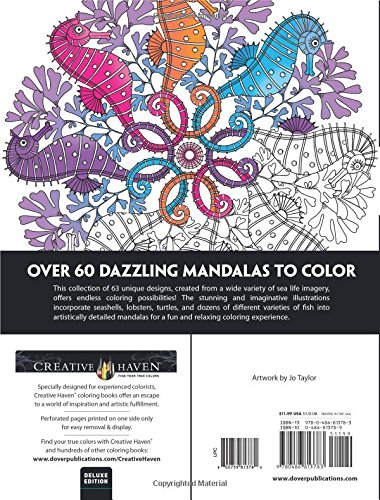 Amazon Creative Haven Deluxe Edition Sea Life Mandalas Coloring Book Adult 0800759813780 Jo Taylor Books