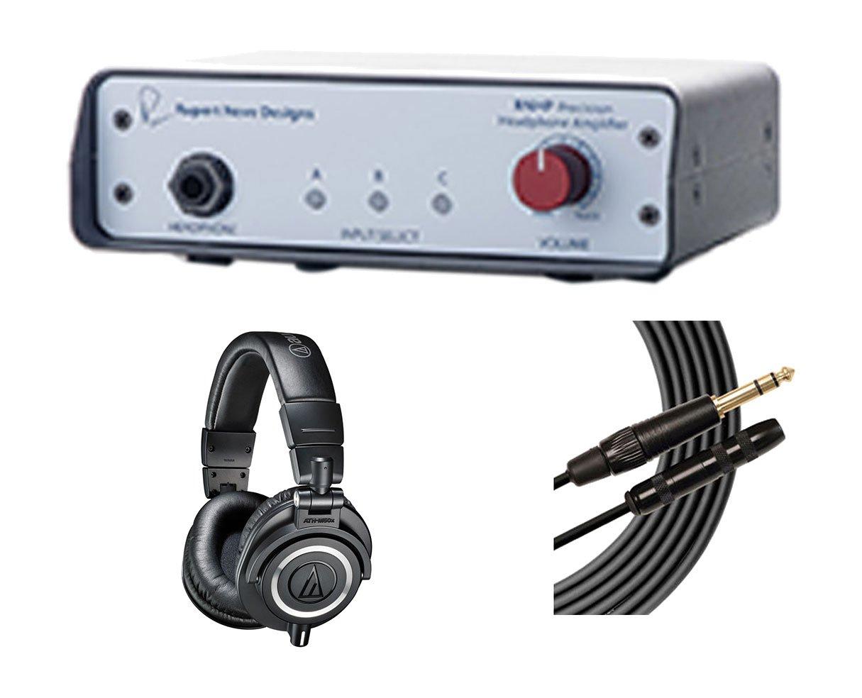 Rupert Neve Designs RNHP Headphone Amplifier + ATH-M50X + Mogami Extension