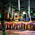GTcoupe Meteor Shower Rain Lights,50cm 10 Tubes 540 LED