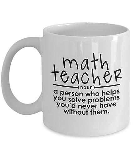 95177b0b747 Amazon.com: Math Teacher Mug – Helps You Solve Problems – Funny Gift ...