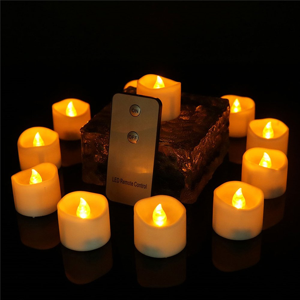 192 Pack, Led Artificial Flameless Candle With Remote Control Long Lasting Home Decorative Small Flickering Romantic Birthday Party Battery Operated Tealight Candle For Halloween Christmas, CDL1919R