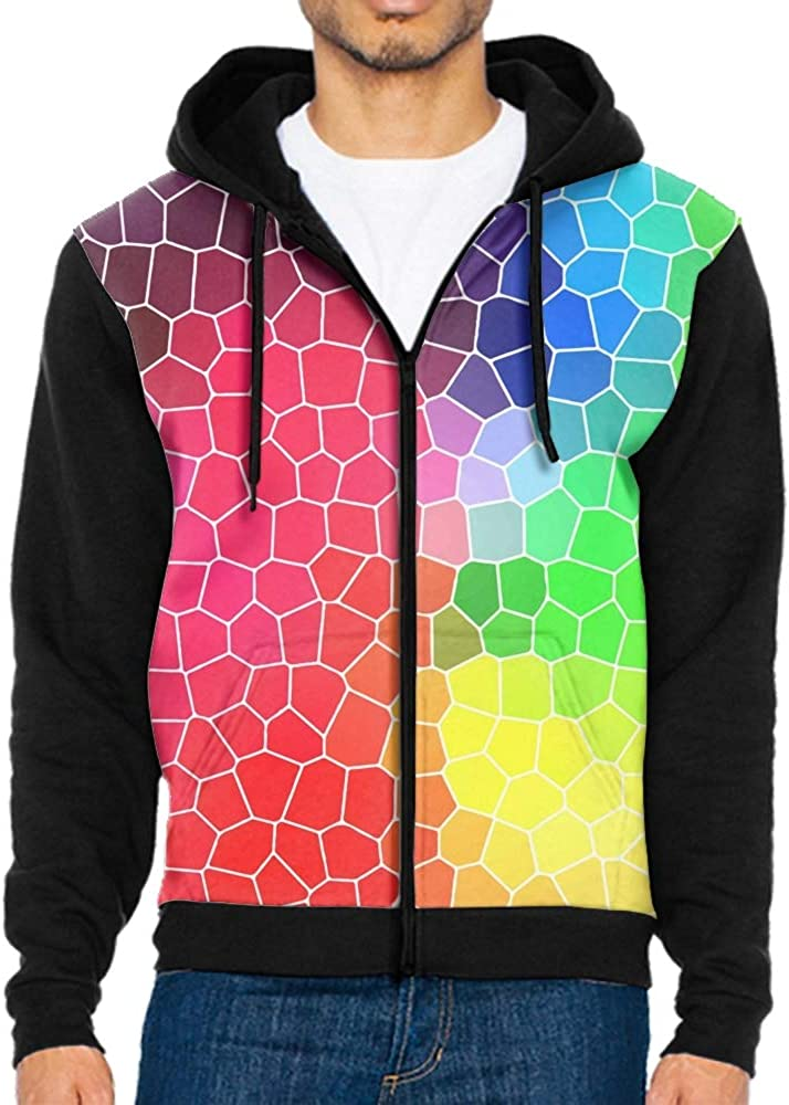 Mens Our Team Long Sleeve Screen Print Hooded Fleece Pullover Triangular Multi Colors Grid