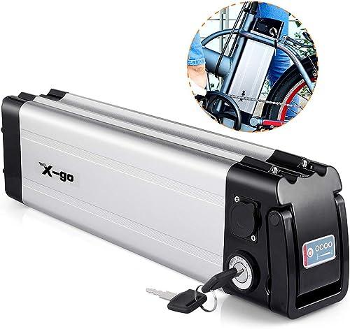X-go Ebike Battery 48V 36V 24V 15AH 12Ah 10AH Lithium Li-ion Battery E-Bike Discharge Electric Bicycles Down Discharge